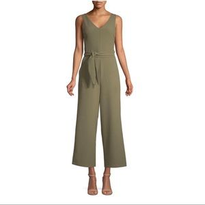 Wide Leg Sleeveless Cutout Ankle Length Jumpsuit